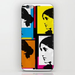 VIRGINIA WOOLF (FUNKY COLOURED COLLAGE) iPhone Skin