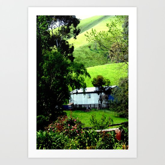 """Shearing shed in the 'Valley of a thousand Hills"""" Art Print"""