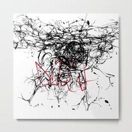 崩れる Metal Print