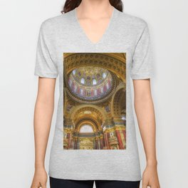 St Stephen's Cathedral Budapest Unisex V-Neck