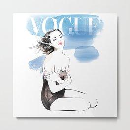 Vogue Fashion Illustration #18 Metal Print