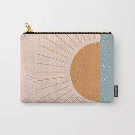 Minimalist Minimal Landscapes Colour Block Ocean Sunset Pastel Colours Midcentury Modern Cool Magical Mystical Abstract Art Bohemian Boho Style Trendy  Carry-All Pouch