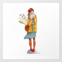 Windy Day  Art Print