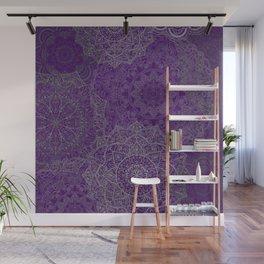 Purple Mandalas Wall Mural