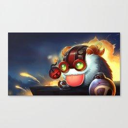 Ziggs Poro League Of Legends Canvas Print