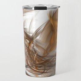Golden fractal Travel Mug