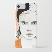 cara iPhone & iPod Cases featuring Cara by Claire.H