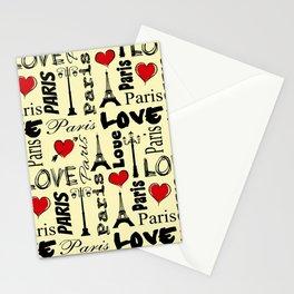 Paris text design illustration Stationery Cards