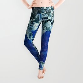 The Blue  Leaf Of Peace, Unity and Acceptance Leggings
