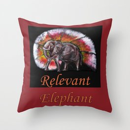 Relevant Elephant Throw Pillow