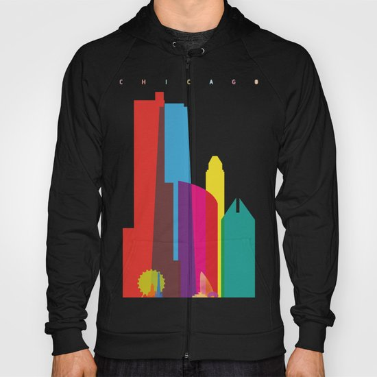 Shapes of Chicago. Accurate to scale Hoody
