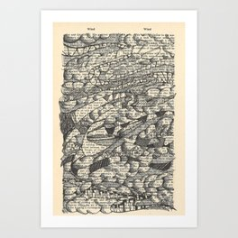 Rolling with the Wind Art Print