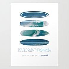 My Surfspots poster-5-Devils-Point-Tasmania Art Print