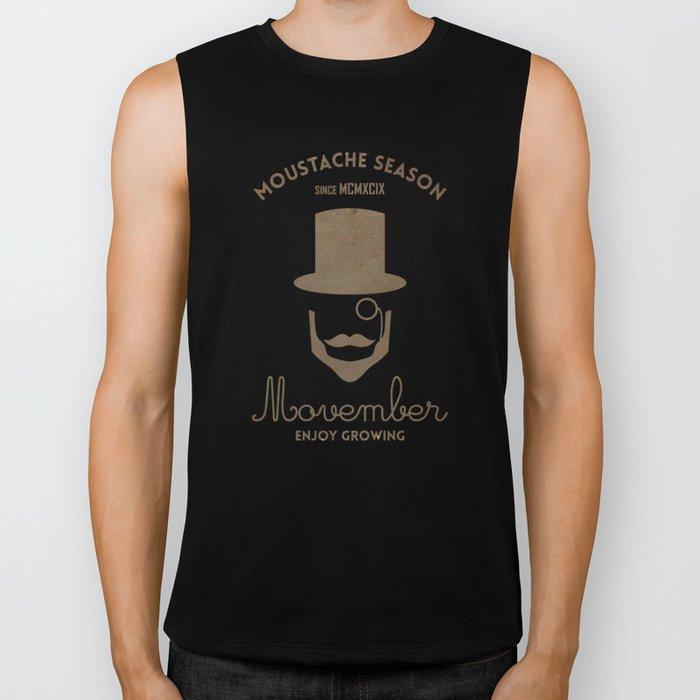 Moustache season Biker Tank