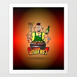 Grillfest - BBQ Art Print