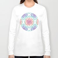 rainbow Long Sleeve T-shirts featuring Indian Ink - Rainbow version by micklyn