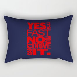 Yes it's fast No you can't drive it v5 HQvector Rectangular Pillow