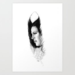 LANA'S FEATHER Art Print