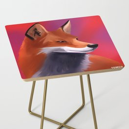 Fox Painting Side Table