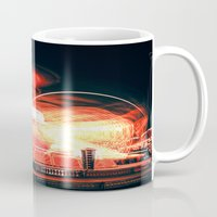 ufo Mugs featuring UFO by Teodora Roşca