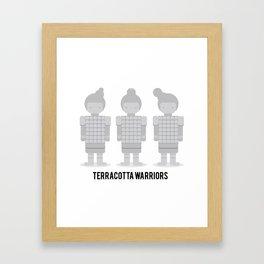 Terracotta warriors Framed Art Print