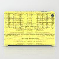 code iPad Cases featuring Code Yellow by Emma Stein