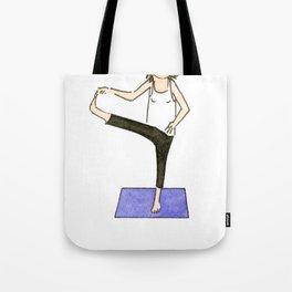 Yoga Folks. Balancing Pose.   Tote Bag