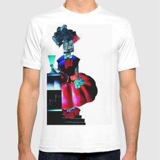 collage love :at the bar Mens Fitted Tee MEDIUM White