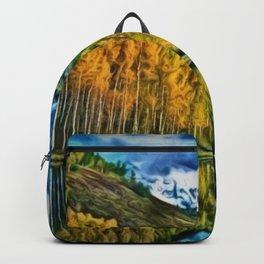 Western Rockies Aspen Forest & Lake Landscape by Jeanpaul Ferro Backpack