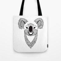 koala Tote Bags featuring Koala by Art & Be