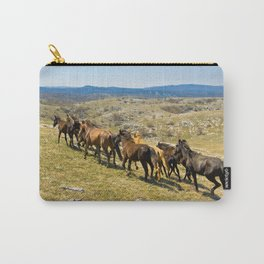 The herd of wild horses Carry-All Pouch