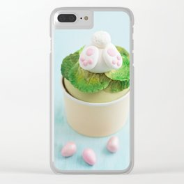 Easter bunny cupcake Clear iPhone Case