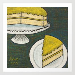Lemon Cake Art Print