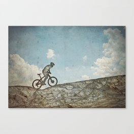 Mountain Biking Leinwanddruck