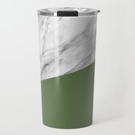 Marble and Kale Color Travel Mug