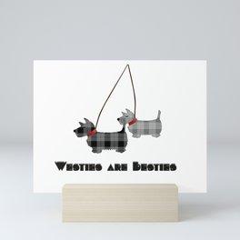 West Highland Terrier Popular Quote Westies are Besties  Mini Art Print