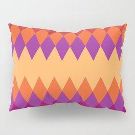 Rhombus pattern of warm colors Pillow Sham