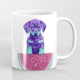 Watermelon Dachshund Coffee Mug