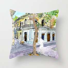 View from Parque Cristo, Habana Vieja, Cuba Throw Pillow