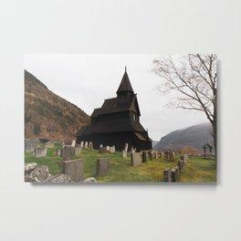 Ornes Stavkyrkje Metal Print