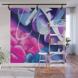 Manhattan Night Space - Abstract Painting  Wall Mural