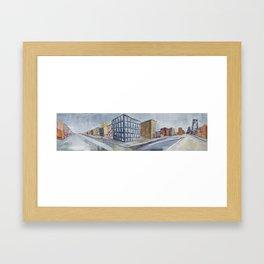 Urban Panorama II Framed Art Print