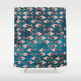School of Fish Pattern Shower Curtain