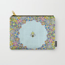 FLOWER POWER BEE Carry-All Pouch