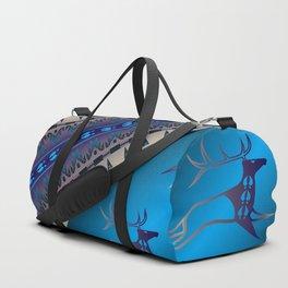 Elk Spirit (Blue) Duffle Bag