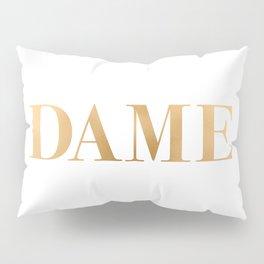 Dame - Gold on White Pillow Sham