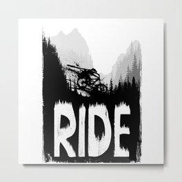 Ink Ride Metal Print