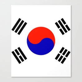 South Korean Flag Logo Canvas Print