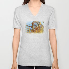 Munich Beer Festival - Roller Coaster & Ferris Wheel Unisex V-Neck