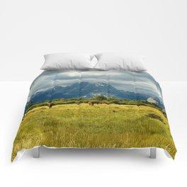 Horses and the Grand Teton Comforters